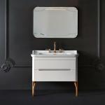 Мебель для ванной комнаты. Kerasan Waldorf База подвесная под раковину 100см, цвет матовый белый/золото