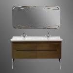 Мебель для ванной комнаты. Kerasan Waldorf База подвесная под раковину 150см, цвет темный орех/хром
