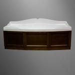 Ванны. Simas Vasche da bagno VAT18 Ванна прямоугольная 180x80 см с панелью, цвет noce