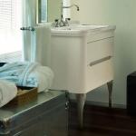 Мебель для ванной комнаты. Kerasan Waldorf База подвесная под раковину 80см, цвет матовый белый/хром