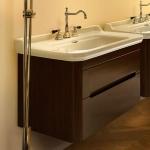 Мебель для ванной комнаты. Kerasan Waldorf База подвесная под раковину 80см, цвет темный орех
