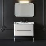 Мебель для ванной комнаты. Kerasan Waldorf База подвесная под раковину 100см, цвет матовый белый