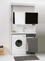 Итальянские постирочные раковины Мебель и оборудование для постирочной комнаты. Мебель для постирочной Colavene сушилка складная с постирочной раковиной серая