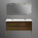 Мебель для ванной комнаты. Kerasan Waldorf База подвесная под раковину 150см, цвет темный орех/бронза