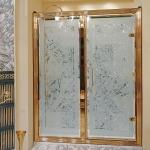 Душевые кабины Створки стеклянные Шторки для душа. Lineatre Tiffany TN1200 Душевая дверь в нишу 120хh200 см