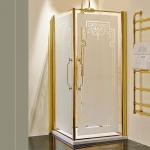 Душевые кабины Створки стеклянные Шторки для душа. Lineatre Londra LA 900+LB 900 Душевой уголок с 2мя распашными дверями 90х90хh186 см