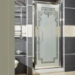 Душевые кабины Створки стеклянные Шторки для душа. Lineatre Londra LN 910 Душевая дверь в нишу 92хh186 см