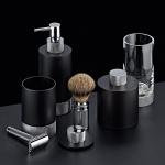 Аксессуары для ванной настольные. Club Decor Walther аксессуары для ванной хром с чёрным