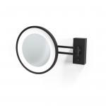 Decor Walther BS36 чёрное матовое настенное косметическое зеркало с подсветкой LED и увеличением х5 или х3