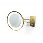 Зеркала косметические с подсветкой увеличением настенные настольные Зеркала с присосками. Decor Walther BS36 золотое настенное косметическое зеркало с подсветкой LED и увеличением х5 или х3