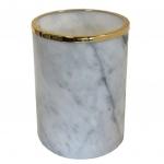 Вёдра с педалью Дровницы Вёдра. Elegance Gold Bianco Carrara мраморное ведро Золото