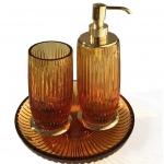 Аксессуары для ванной настольные. Elegance Gold Ambra хрустальные аксессуары для ванной Золото
