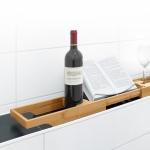 Полки для душа Сетки Полки для ванной стеклянные Полки для полотенец. Полка для ванны деревянная HELGE Nicol