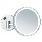 Зеркала косметические с подсветкой увеличением настенные настольные Зеркала с присосками.   MAYLA Nicol косметическое зеркало с подсветкой LED и пятикратным увеличением настенное