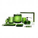 Аксессуары для ванной настольные. Kristall Аксессуары для ванной настольные хрустальные зелёные Decor Walther
