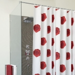 Шторки для душа и ванны текстильные. SCARLET шторка для ванны и душа текстильная
