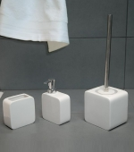 Аксессуары для ванной настольные. Joy Nicol керамические настольные аксессуары для ванной Белые