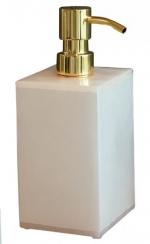 Аксессуары для ванной настольные. Blanca Alabaster Nicol Аксессуары для ванной настольные из натурального камня Дозатор золотой декор