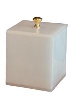 Аксессуары для ванной настольные. Blanca Alabaster Nicol Аксессуары для ванной настольные из натурального камня Косметическая ёмкость золотой декор