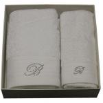 Полотенца хлопковые Deluxe. Комплект полотенец для лица и рук (40х60; 60х110) Crociera (Кросиера) Белый от Blumarine