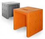 Аксессуары и Мебель для дома. Табурет универсальный пластиковый цветной Calligaris Crossover Оранжевый Серый