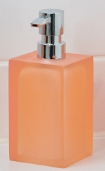 Аксессуары для ванной настольные. Cube Nicol Аксессуары для ванной настольные квадратные оранжевые Дозатор