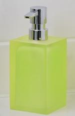 Аксессуары для ванной настольные. Cube Nicol Аксессуары для ванной зелёный лайм Дозатор