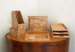 Аксессуары для кабинета Deluxe. Wood Collection деревянные аксессуары для рабочего стола Сет Карельская берёза