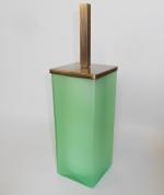 Ёршики для унитаза напольные и настенные. Arcobaleno Marmores Ёршик для унитаза напольный стеклянный зелёный бронзовый
