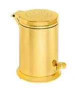Аксессуары для ванной с кристаллами Swarovski. Ведро золотое с педалью декор кристаллы Swarovski Tapa L