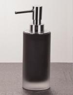 Аксессуары для ванной настольные. Baltic настольные Аксессуары для ванной стеклянные чёрные Дозатор