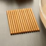 Деревянные коврики и решётки для душа и ванной комнаты. Деревянный коврик для ванной светлый Бук ENHOLZ