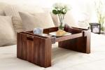 Аксессуары и Мебель для дома. Wood Collection деревянный столик для постели розовое дерево Santos
