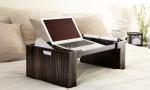 Аксессуары и Мебель для дома. Wood Collection деревянный столик для постели Эбеновое дерево Macassar