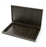 Аксессуары и Мебель для дома. Wood Collection Box деревянная шкатулка для iPad и пультов Эбеновое дерево Dark большая