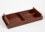Аксессуары для кабинета Deluxe. Wood Collection Универсальный деревянный лоток Розовое дерево Сантос