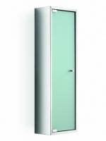 Зеркальные шкафчики Аптечки. Шкаф со стеклянной дверцей и полкой настенный PIKA Lineabeta 80