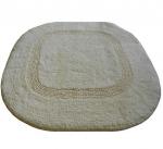 Коврики для ванной комнаты.  Хлопковый коврик для ванной комнаты LUXOR Oval Nicol без выреза двухсторонний