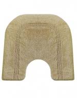 Коврики для ванной комнаты.  Хлопковый коврик для ванной комнаты LUXOR Oval Nicol с вырезом двухсторонний