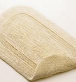 Коврики для ванной комнаты.  Хлопковый коврик для ванной комнаты LUXOR Natur Nicol двухсторонний