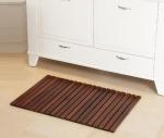 Деревянные коврики и решётки для душа и ванной комнаты. Деревянная решётка коврик для ванной комнаты Wilma тёмная