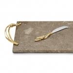 Разделочные доски. Доска для сыра с ножом 48 см «Золотая пшеница»