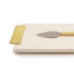 Разделочные доски. Доска для сыра 34 см «Золотые жемчужины»