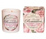 Luxury Гель для душа Мыло. Nesti Dante Romantica Rosa Medicea e Peonia Свеча Роза и Пион ароматизированная 160 г