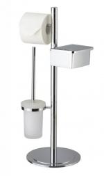 Стойки напольные для туалетной бумаги с полотенцедержателем и ёршиком. Saturn Nicol стойка с ёршиком и бумагодержателем и контейнером для влажной туалетной бумаги