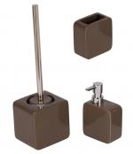 Аксессуары для ванной настольные. Joy Nicol керамические настольные аксессуары для ванной Шоколадные