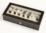 Аксессуары и Мебель для дома. Wood Collection бокс для часов и украшений деревянный Эбеновый тёмный