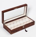 Аксессуары и Мебель для дома. Wood Collection бокс для часов и украшений деревянный Розовое дерево Сантос