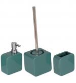 Аксессуары для ванной настольные. Joy Nicol керамические настольные аксессуары для ванной Зелёные