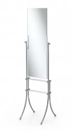 Зеркала косметические с подсветкой увеличением настенные настольные Зеркала с присосками. Зеркало напольное прямоугольное Venessia Lineabeta двухстороннее с полотенцедержателем
